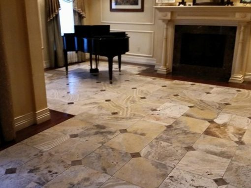 Honed Marble Floor Restoration Southeast Missouri