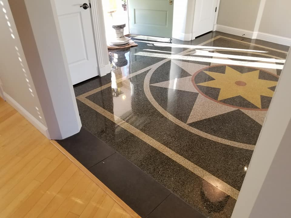 Terrazzo Floor Polish Ballwin Mo Residence Harco Midwest