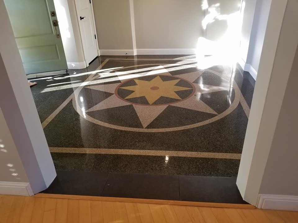 polished terrazzo floor ballwin mo