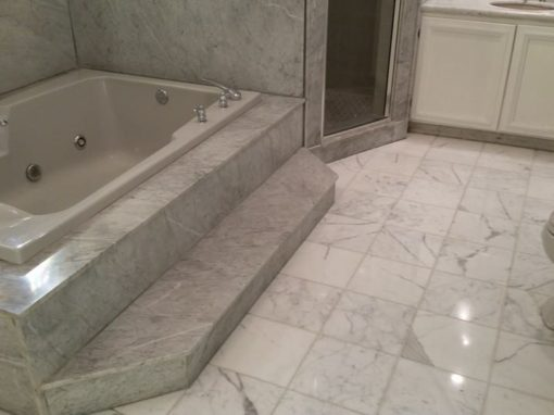Residential Bathroom Marble Restoration St Louis MO
