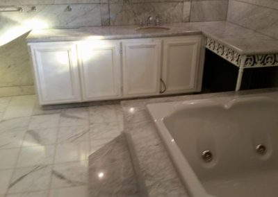 residential bathroom marble restoration-before-2