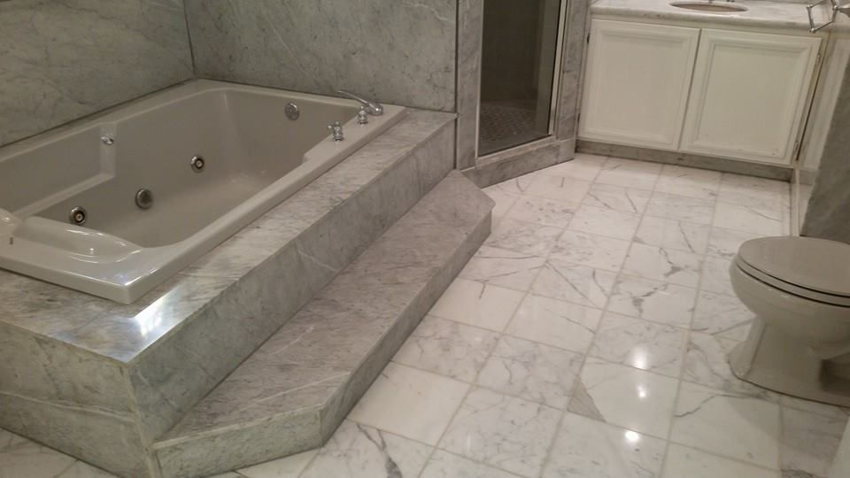 residential bathroom marble restoration