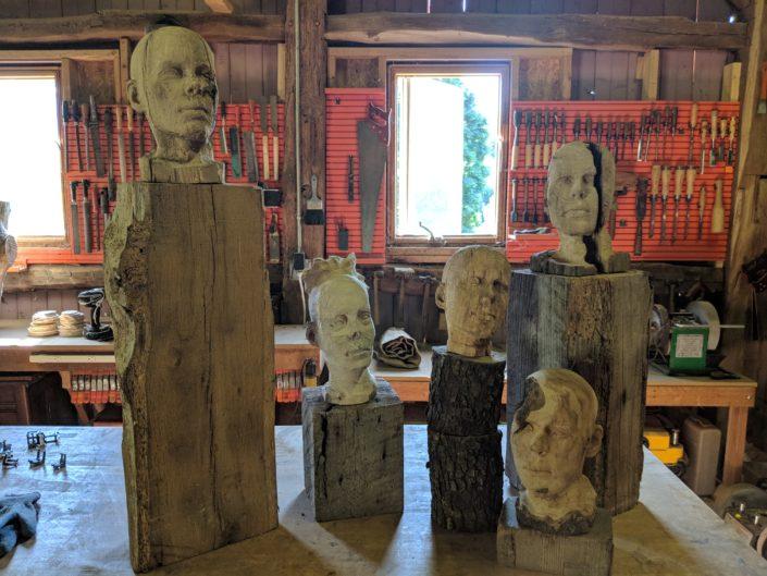 Burkholder Agency Client Josh Nozick sculptures