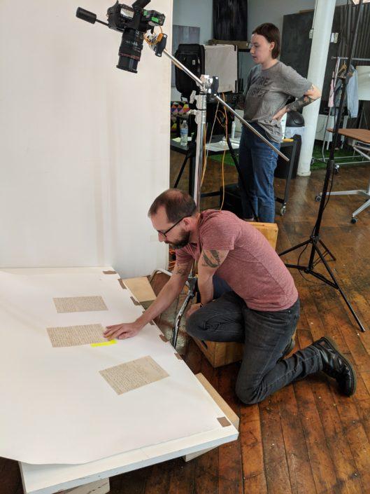 Burkholder Agency Client Sean Scheidt in Studio working on Somewhere