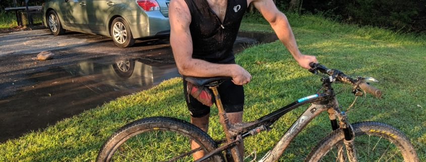 Scott Burkholder post MTbike Ride