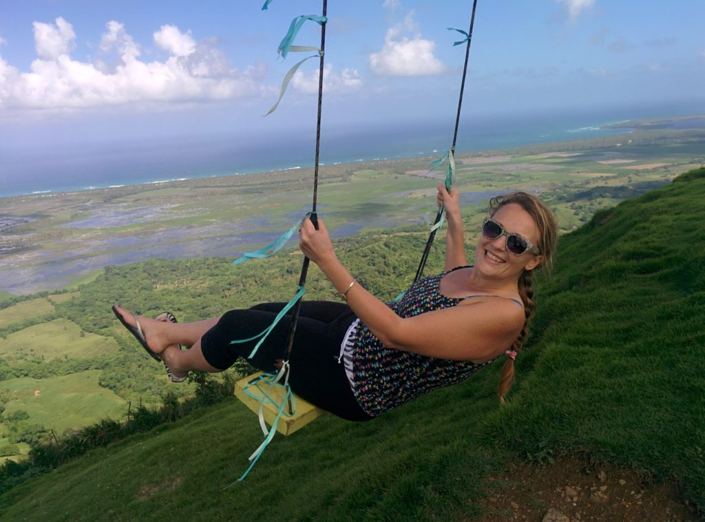 Swinging at Montana Redonda
