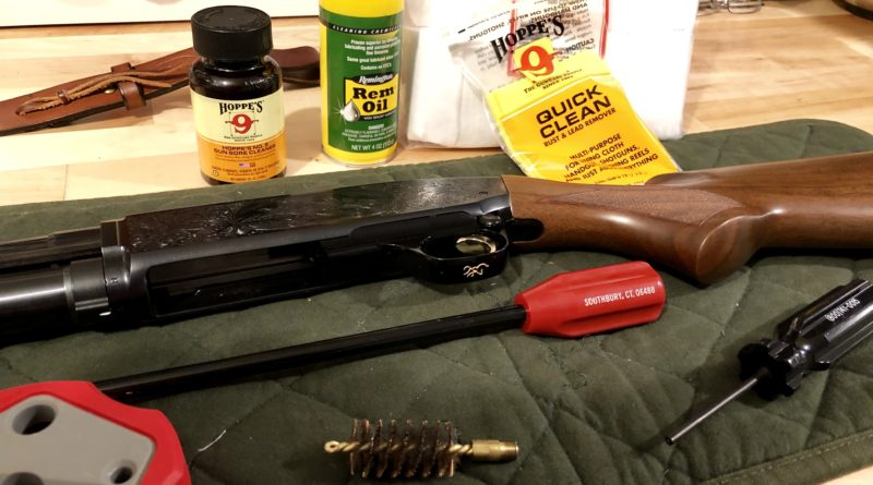 Cleaning a Browning shotgun