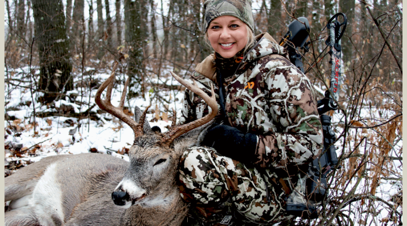 Women hunter with whitetail
