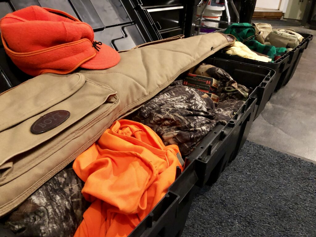 Plano Sportsman Trunks with deer hunting gear