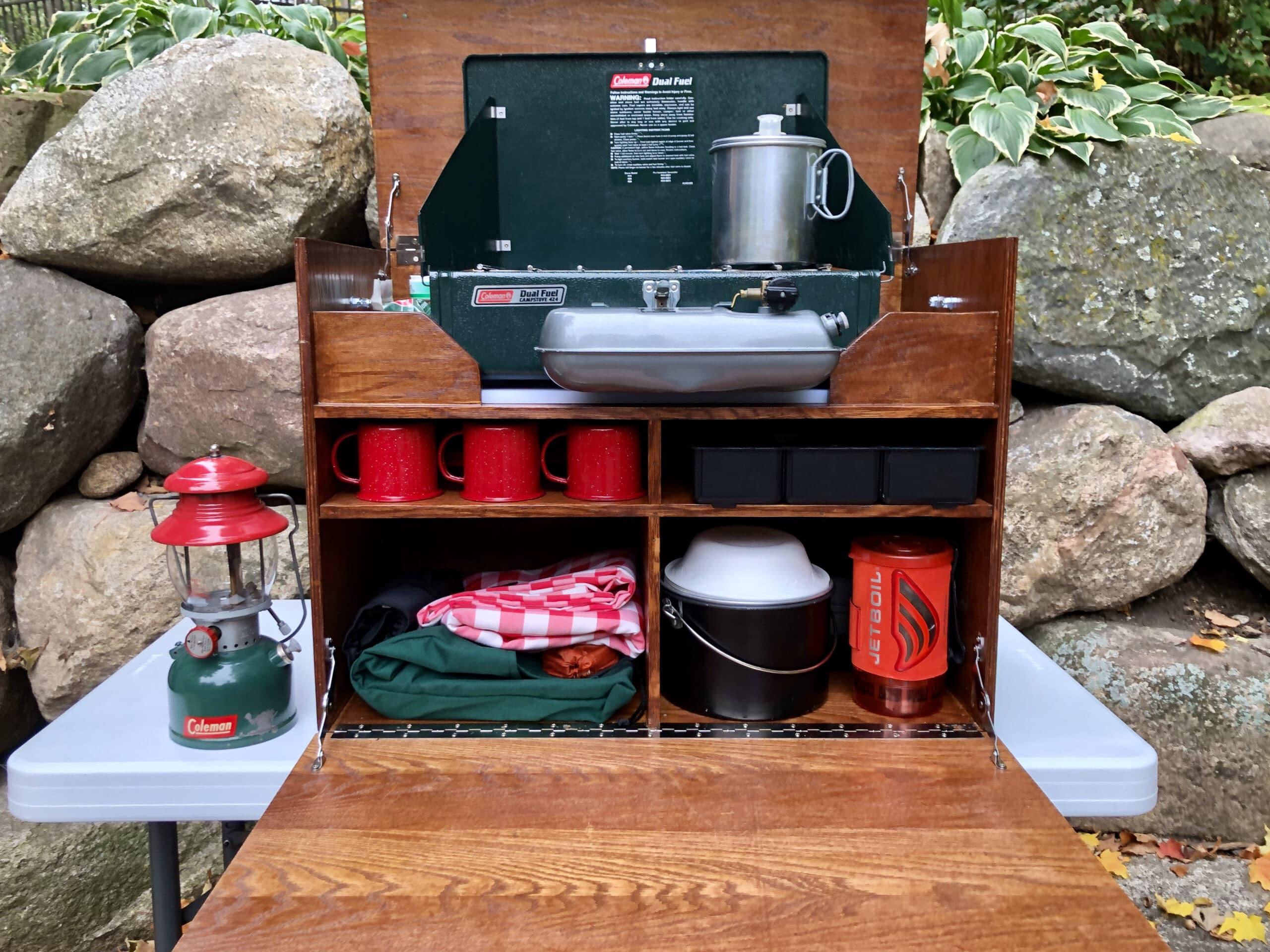 Camp kitchen chuck box