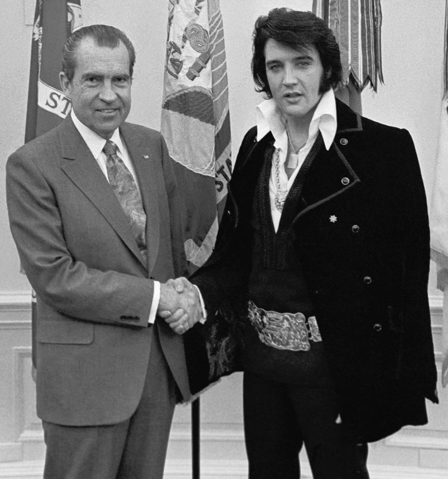 Elvis Presley and President Richard Nixon
