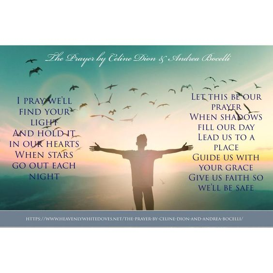 The Prayer by Celine Dion and Andrea Bocelli