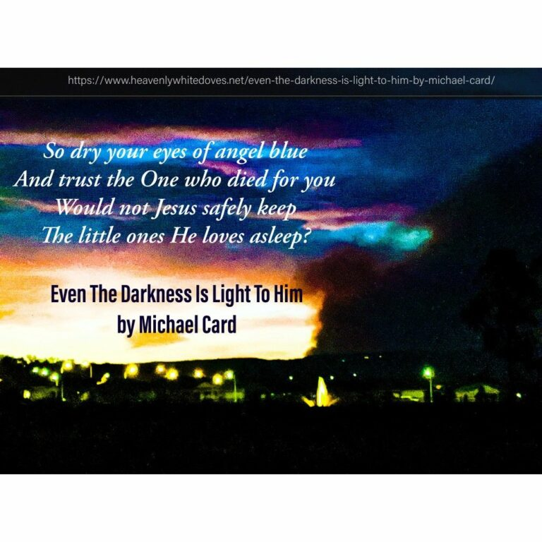 Even The Darkness Is Light To Him (Psalm 139:11) by Michael Card