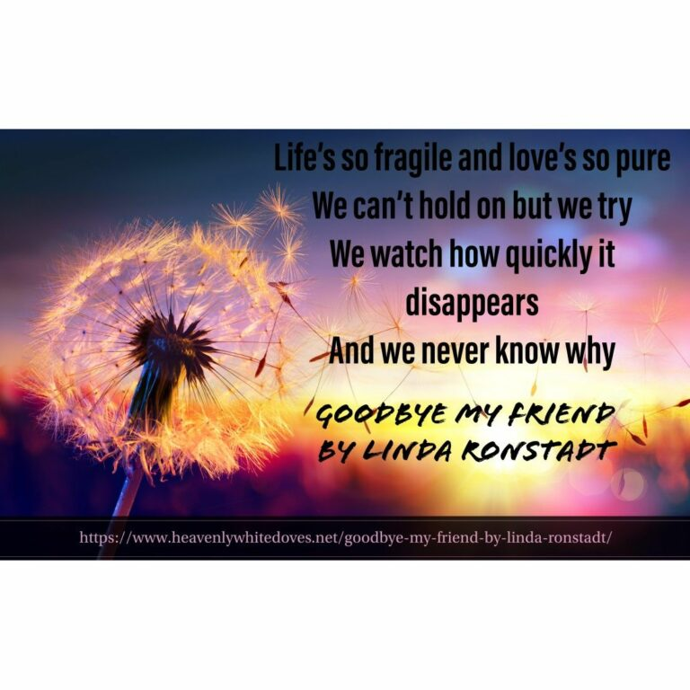 Goodbye by Friend by Linda Ronstadt