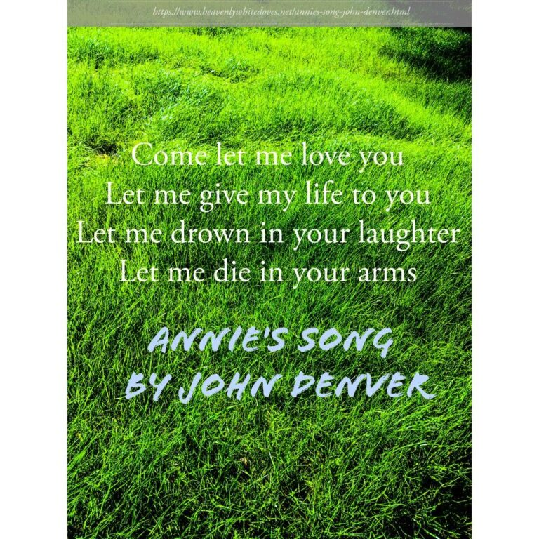 Annie's Song by John Denver