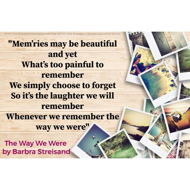 The Way We Were by Barbra Streisand