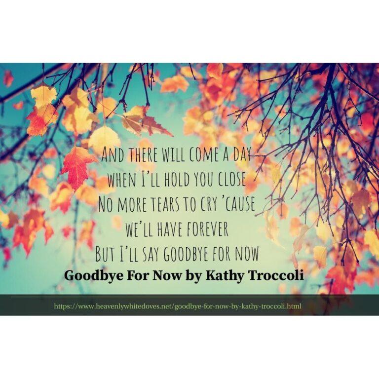 Goodbye for Now by Kathy Troccoli