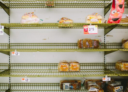 The bread shelf at the North Quincy Stop and Shop ahead of Winter Storm Nemo