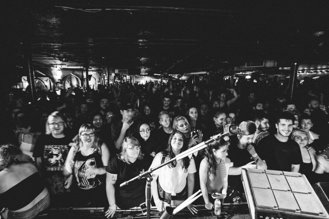 Crowd at The Middle East in Cambridge, MA for nothing, nowhere