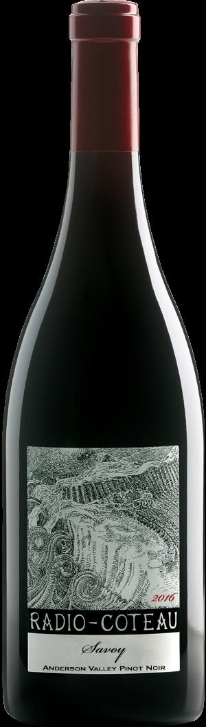 2016 savoy pinot bottle