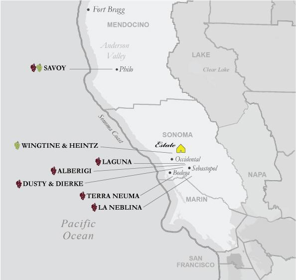 Radio-Coteau Vineyard Map