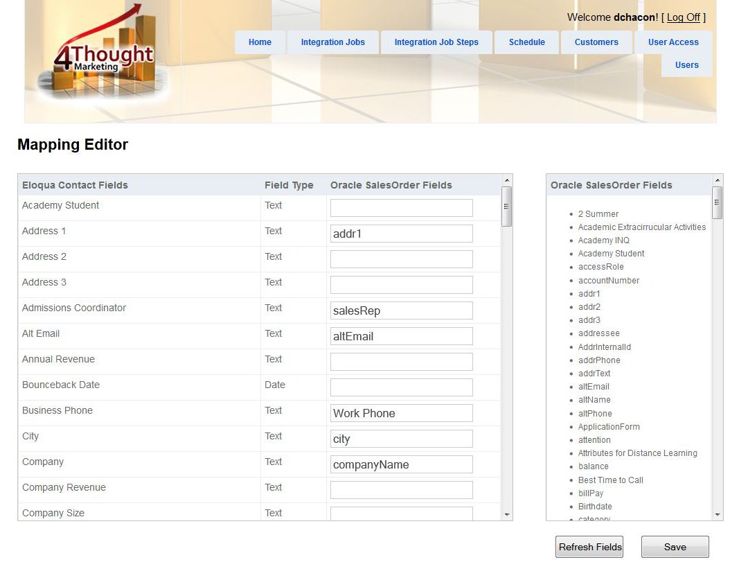Integrating Oracle CRM with Eloqua 2