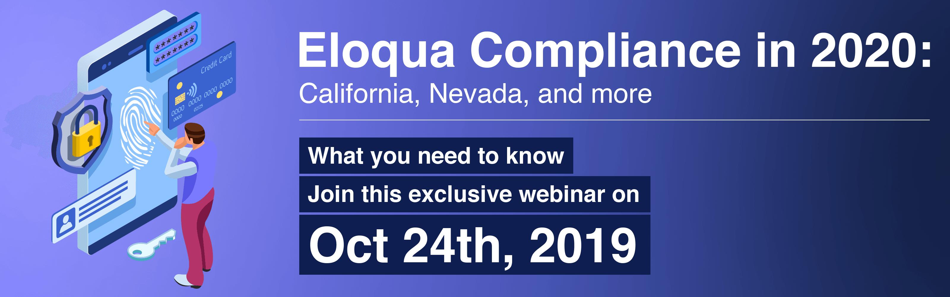 Eloqua Compliance in 2000 Webinar Invitation