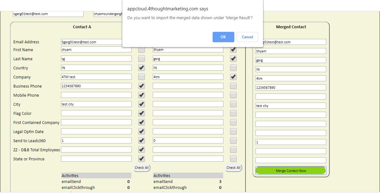 Eloqua Merge Contacts Cloud App 6