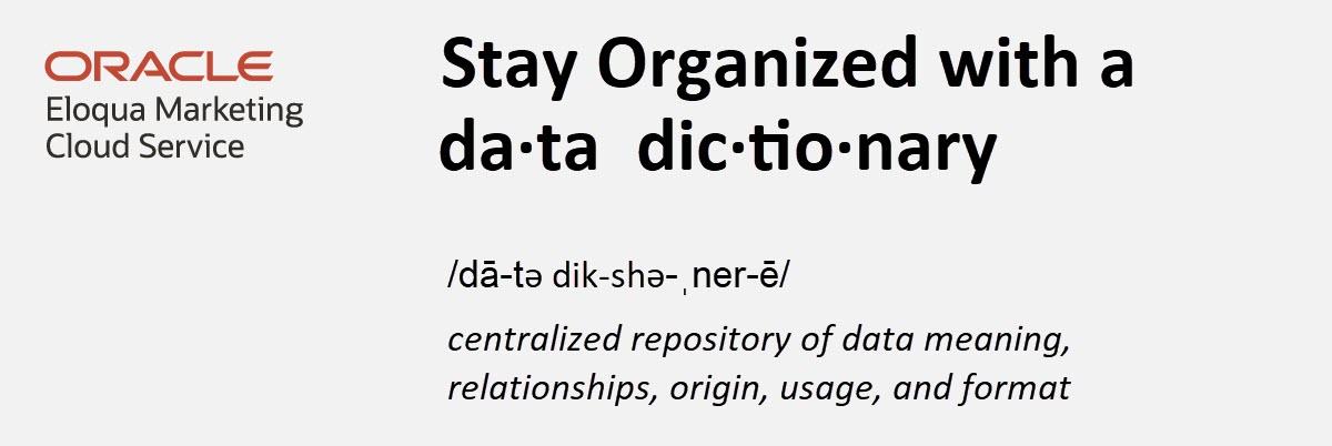 Eloqua Data Dictionary