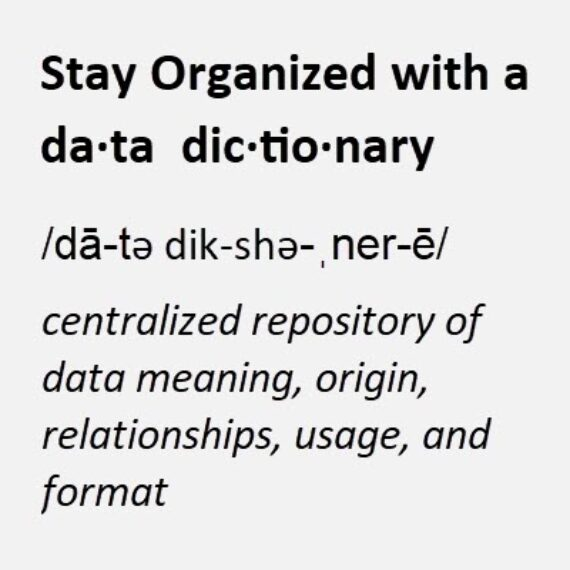 Stay Organized with an Eloqua Data Dictionary 1