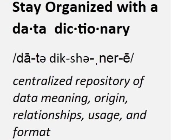 Stay Organized with an Eloqua Data Dictionary 3