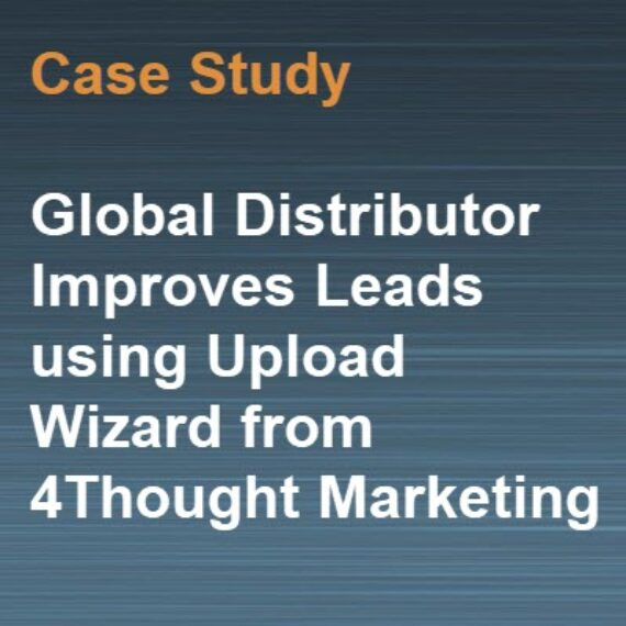 global distributor improves leads using upload wizard