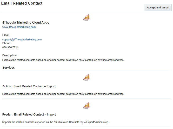 Email Related Contact Cloud App