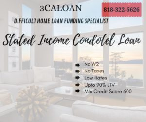 Stated income condotel loan Lenders