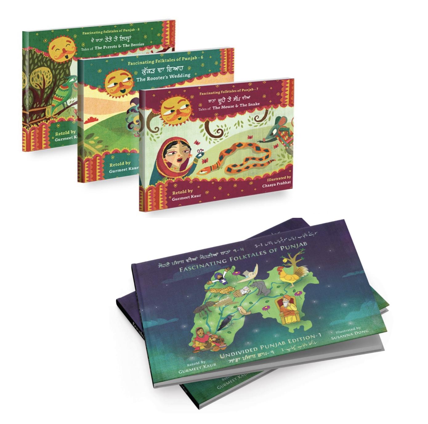 Fascinating Folktales of Punjab - Books 6-8 + Undivided Punjab Edition
