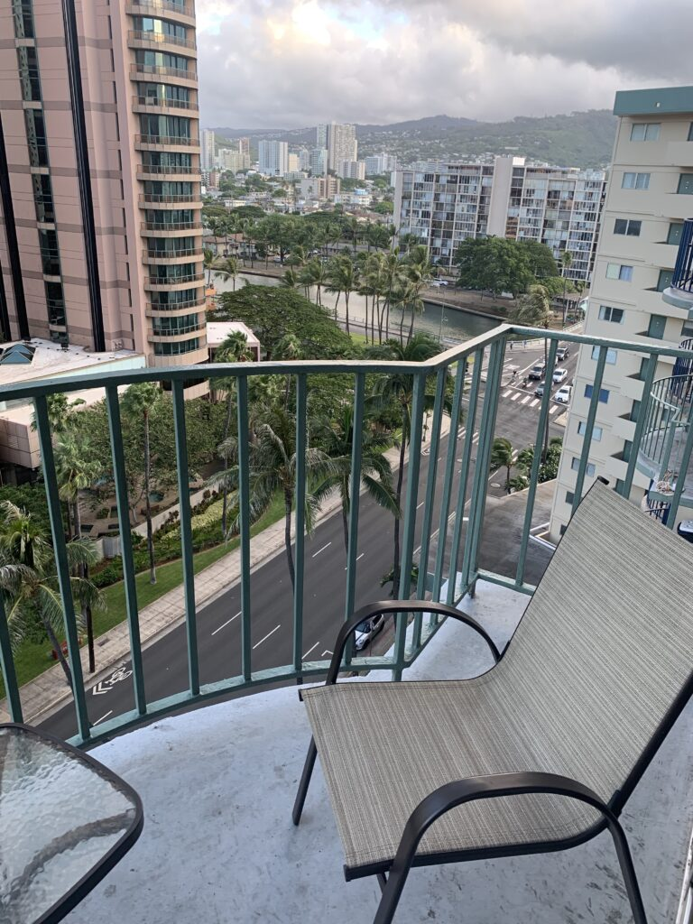 view from our Honolulu home for 4 weeks