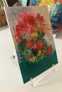 Display on a small easel.