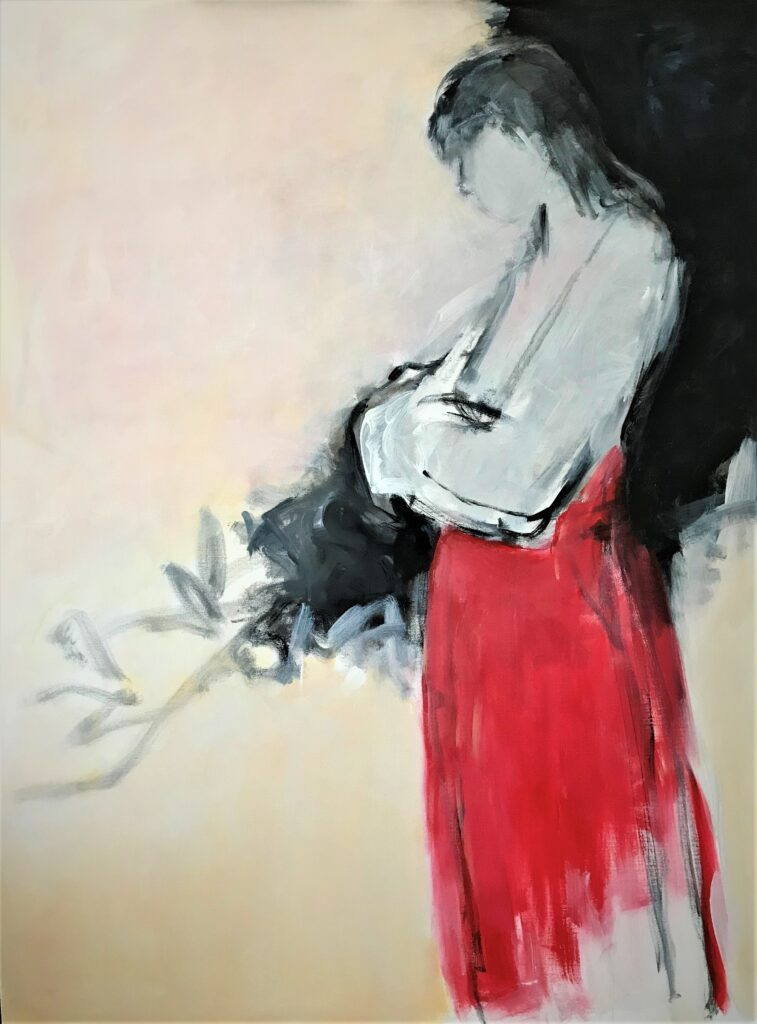 "Red Skirt (48""x36"")"
