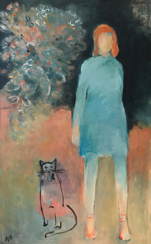 """Cat and Company (48""""x30"""")"""