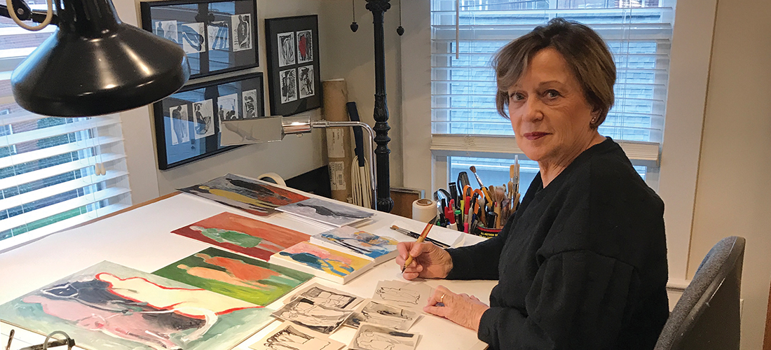 Agnes Preston-Brame at her desk