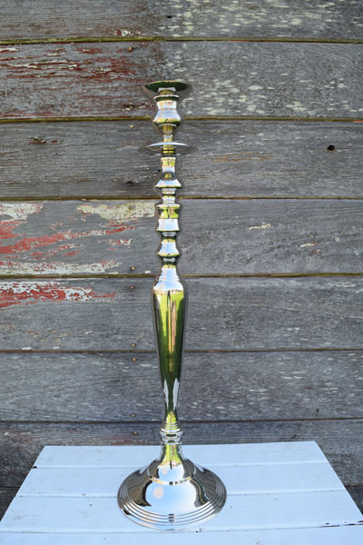 Vintage silver 1 candle or centerpiece stand