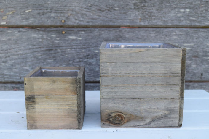 Antiqued wood boxes in various sizes