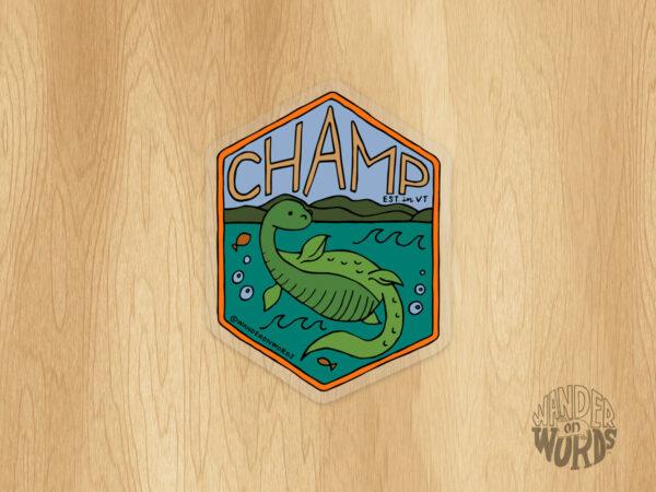 Champ Sticker