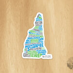 Ski NH Sticker
