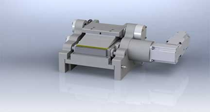 Standard servo controlled pointing grinding system