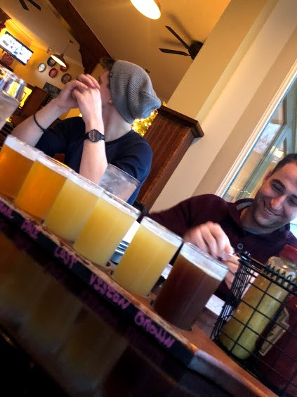 Customers enjoying a flight at the Athens BrewpubPhoto Credit: Follow Your Own Wild