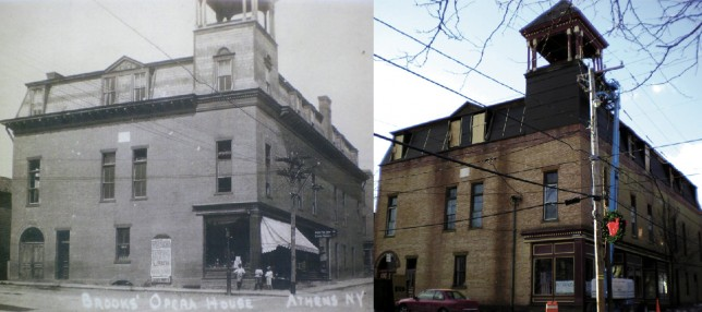Then and Now comparison of our Athens Location