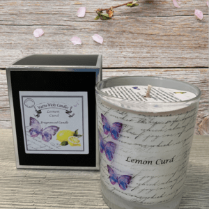 lemon curd scented candle