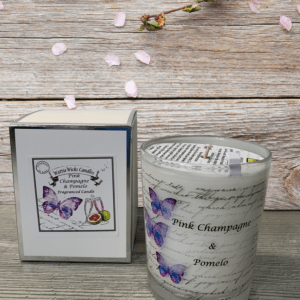 pink champagne and pomelo candle