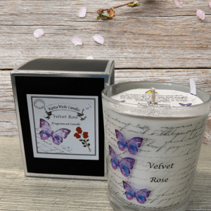 velvet rose scented candle
